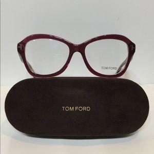 5b778084634 ... New Tom Ford 5359 071 Clear Burgundy plastic 53mm ...